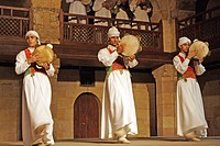 traditional dance and music of the ancient sufi, Cairo, Egypt