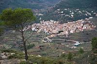 Overview and Comprehensive Gátova City. Comunidad Valenciana. Spain.
