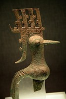 Small Three Thousand Year Old Bronze Bird Sanxingdui Museum Chengdu Sichuan China China Numerous bronze 3, 000 year old bronze artifacts were discover...