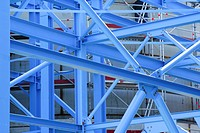 Structural steel, steel construction for the building of industrial plants