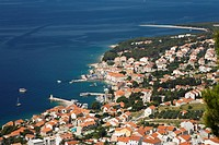 Aerial view of Bol, Brac Island, Dalmatia, Croatia, Mediterranean Sea, Europe