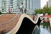 Toronto Waterfront WaveDecks - wooden sidewalks at the Lake Ontario shores  WaveDecks won an Urban Design Award