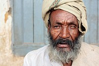 Portrait of a one-eyed man in Harar, Ethiopia