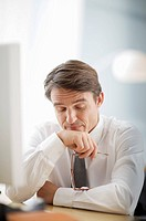 man being tired of bad news