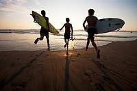 Surfers in Costa Rica, Central America