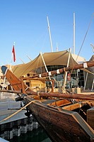 Dhow ship at scientific centre salmiya