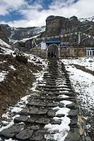 Entrance to the Base Camp Thorong-La