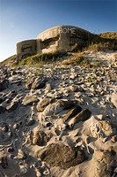 Old bunker on the beach