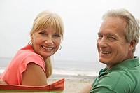 Couple at beach portrait