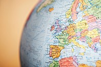 Globe close_up on Europe