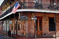 Typical old brick house in French Quarter  New Orleans, Louisiana, USA
