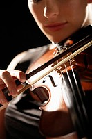 Woman Playing Violin close-up (thumbnail)