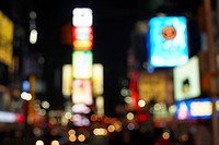 City Streets at Night defocused