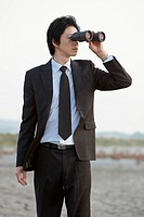 binocular, mud flat, Hwa_Sung_Si, gyeonggi_do, korea, south korea, Oriental, Eastern people, asian