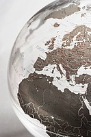 Inflatable Globe showing Europe