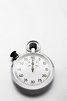 Stopwatch on white background studio shot