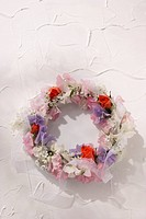 Wreath made of flowers