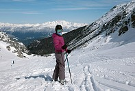 Cross country skier, Whistler, British Columbia, Canada