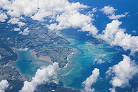 Clouds in sky above Okinawa Prefecture, Japan