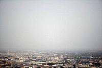 Skyline with smog, Los Angeles, California, USA