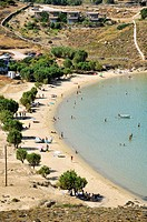 The famous Psili Ammos beach, Serifos island, Greece