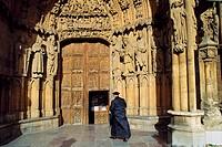 Leon Cathedral. Tierra de Campos. Way of St. James. Leon- Province. Castilla- Leon. Spain.