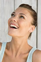 Close_up of a woman laughing