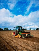 Seed Drilling, Seed drill planting seeds