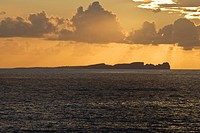 Tory Island, County Donegal, Ireland, Sunset over island seascape