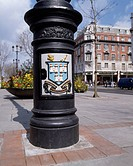 Dublin, County Dublin, Ireland, Lamp post with City Arms