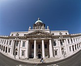 Dublin City, Customs House, fish eye lens,