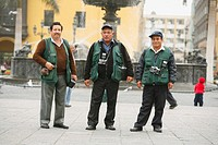 Group of men, Lima, Peru