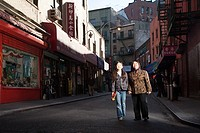 Grandmother and granddaughter in China Town, New York City
