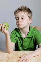 Boy with apple (thumbnail)