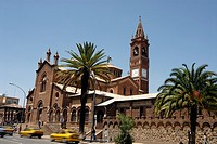Africa,Eritrea,Asmara,Catholic Cathedral