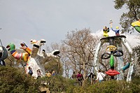 il giardino dei tarocchi or the garden of tarot, garavicchio, capalbio, tuscany, italy