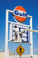 Sign Worker, Atlantic City, New Jersey, USA