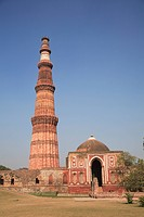 Qutab Minar Tower, UNESCO World Heritage Site, New Delhi, India, Asia