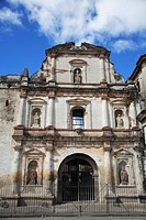 Convento de San Agustin San Agustin Church, destroyed by earthquake, Antigua, UNESCO World Heritage Site, Guatemala, Central America ,