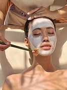 Facial at the Chi Spa at Shangri La Boracay Resort and Spa in Boracay, Philippines, Southeast Asia, Asia