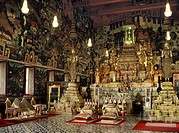 Interior of the Chapel of the Emerald Buddha Wat Phra Kaew, Royal Palace, Bangkok, Thailand, Southeast Asia, Asia