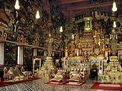 Interior of the Chapel of the Emerald Buddha Wat Phra Kaew, Royal Palace, Bangkok, Thailand, Southeast Asia, Asia