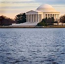 Jefferson Memorial at sunset, in front of the Tidal Basin, Washington, DC