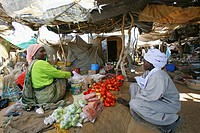 food market in N'djamena, Chad, Africa