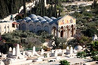 view from the old city of jeruzalem viewing mount of olives