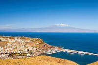 Spain _ Canary Islands _ La Gomera _ San Sebastian de La Gomera _ View of the Island of Tenerife and of the Pic du Tiede