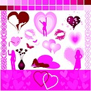 valentine design aids _ vector