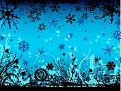 winter floral grunge