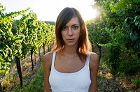 Young woman in vineyard (thumbnail)