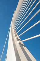 L'Assut d'Or bridge, City of Arts and Sciences. Valencia, Comunidad Valenciana, Spain